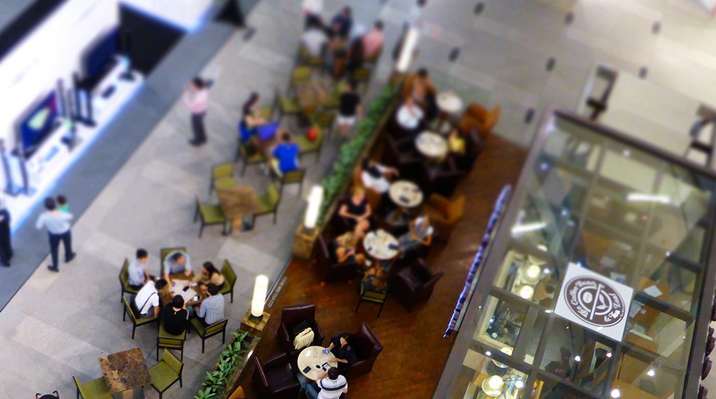 Cofee-Restaurant view from above