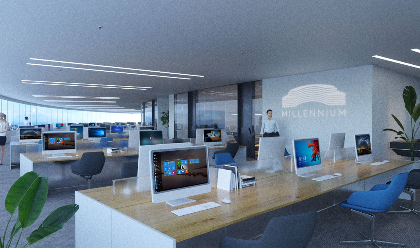 Openspace view with workstations